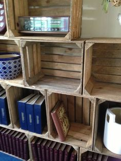 3 Vintage/Rustic Wooden Apple Crates, ideal storage boxes/display, lighter shade in Home, Furniture & DIY, Storage Solutions, Storage Boxes | eBay