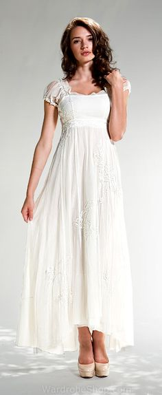 If I decided to forgo the 50s style poofy dress, I might opt for something like this. It's sweetness reminds me of Windy from Peter Pan. $185