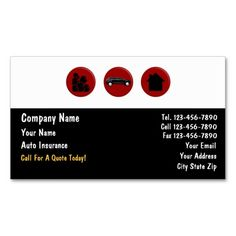 Classy Insurance Broker Business Cards Auto Agent Business Cards