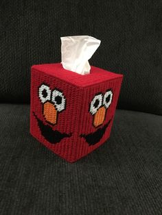 A personal favorite from my Etsy shop https://www.etsy.com/listing/271549496/elmo-handmade-plastic-canvas-tissue-box