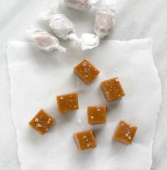 bourbon sea salt caramels