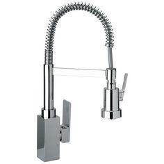 DAX R 84.557PR  (h 48,4)rubinetto monocomando lavello bocca a molla con asta orientabile doccia 2 funzioni - Bagno Italiano