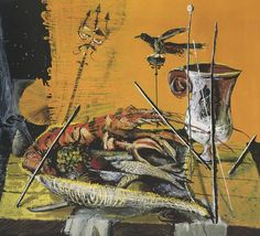 Christo Coetzee, Pompeian Lobster, 1954 - Christo Coetzee - Wikipedia, the free encyclopedia Art Database, Still Life Art, Favorite Words, Cool Art, Art Pieces, African, Cool Stuff, Drawings, Artwork