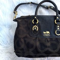 🔴Final Price  Coach black monogram bag Super chic black monogram bag by coach. Super roomy! Inside could use some cleaning but Outside is in excellent condition. Coach Bags