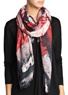 Marble print scarf