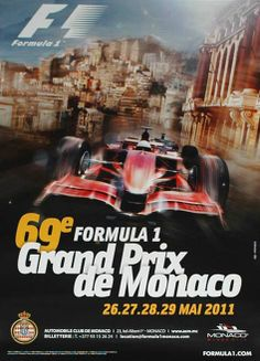 2011 Monaco Grand Prix poster