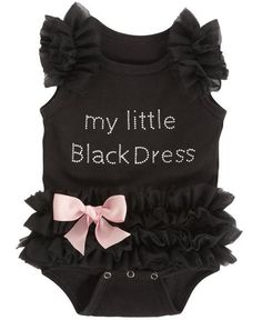 Little Black Dress Baby Onesie : Cute Aprons - Cute Dresses - Cute Maxi Skirts - Cute Gifts - Daisy Shoppe