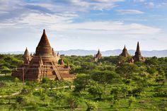 Buddhist pagodas in Bagan. Myanmar