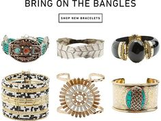 Bring on the Bangles. http://www.swell.com/BRACELETS