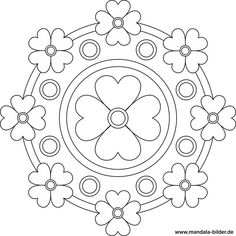 Mandala mit Blumen