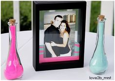 unity sand picture frame! great keepsake