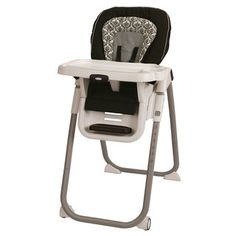 @Overstock - Graco TableFit Highchair in Rittenhouse - Let your little one join you at the dining table with this black and white Graco highchair. It features an adjustable strap and harness to suit a growing child, three recline levels to make your baby comfortable, and eight different height positions.  http://www.overstock.com/Baby/Graco-TableFit-Highchair-in-Rittenhouse/7547294/product.html?CID=214117 $98.99