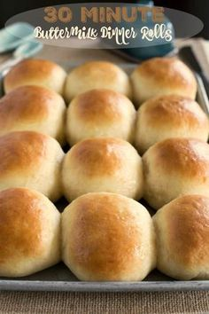 30 Minute Buttermilk Dinner Roll Recipe - easy rolls that would be perfect for Thanksgiving or Christmas dinner.