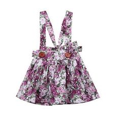 Our lovable Chizuru Purple Floral Skirt is a floral designed skirt that has adjustable straps. Its cute floral print makes it look more appealing to the eyes. This sweetie is made from high-quality fabric to ensure comfort and durability. Girls In Suspenders, Stylish Baby Clothes, Overall Skirt, Summer Outfits, Summer Dresses, Baby Outfits, Flower Skirt, Suspender Skirt, Princess Outfits