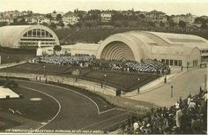 27 de abril de 1940 - Cerimônia de inauguração do Estádio do Pacaembu.