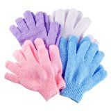 Body Scrub - One of the Best Spa Quality Body Exfoliator and Skin Exfoliation Products - 4 Pairs Exfoliating Scrubber Gloves Per Pack - Provides Great Body Polish - Exfoliator Will Remove Dead Skin Cells and Stimulate Circulation - Machine Washable by HB9