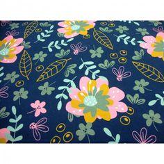Baumwolljersey Beautiful Flower limitierte Auflage Premium Collection