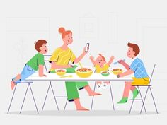 Family designed by Darya Semenova. Connect with them on Dribbble; Family Illustration, Line Illustration, Adobe Animate, Family Vector, Character Flat, Saint Charles, Show And Tell, Family Guy, Behance