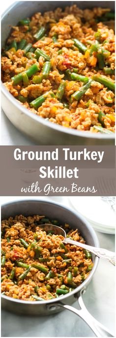 A very gluten free Ground Turkey Skillet with Green Beans re. - [ Food Recipes We Can't Wait to Make ]A very gluten free Ground Turkey Skillet with Green Beans recipe that is definitely easy to make and tasty meal for your family dinner. Tasty Meal, Healthy Meal Prep, Healthy Cooking, Healthy Eating, Weekly Meal Prep, Weekly Pay, Easy Meal Prep, Healthy Foods, Paleo Recipes