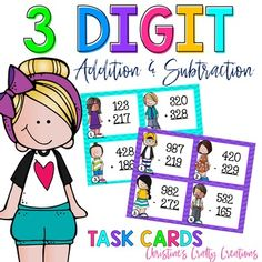 addition flash cards subtraction flash cards each)These task cards are great for small group instruction, whole group activities, math centers, and more! Math Stations, Math Centers, Elementary Teacher, Elementary Education, Teaching Math, Teaching Ideas, Addition Flashcards, Math Task Cards, Math 2
