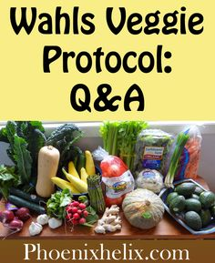 3 cups greens, 3 cups colorful veggies or fruits, 3 cups high sulfur Wahls Veggie Protocol Q&A | Phoenix Helix