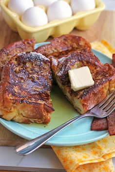 Eggnog French Toast | Grandbaby Cakes What's For Breakfast, Breakfast Dishes, Breakfast Recipes, Breakfast Casserole, Scones, Eggnog French Toast, Holiday Recipes, Christmas Recipes, Cooking Recipes