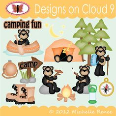 Designs on Cloud 9 Camping Fun SVG and cutting files