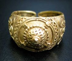 Ottoman Gold Ring with Applied Decoration - OS.026 Origin: Turkey Circa: 16 th Century AD to 19 th Century AD