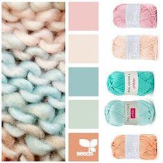 Atelier Bonita-loka Scheme Color, Colour Pallette, Colour Schemes, Pantone, Yarn Color Combinations, Colours That Go Together, Color Style, Bleu Pastel, Yarn Inspiration