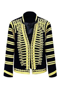 Men's New Military Style Gold Embroidery Black Military Napoleon Jacket. High quality Military Napoleon Gold Embroidery Jacket. | eBay!