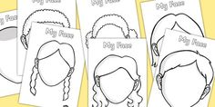 Blank Faces Templates - face, features, eye, template, mouth
