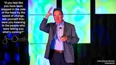 If you feel like you have been slapped in the side of the head by the speed of change ask yourself this: were you listening to the people who were telling you whats coming? -#Futurist Jim Carroll  This photo is from my keynote for a retail /grocery conference at Caesars Palace in Las Vegas last week. Everyone was talking about the Amazon/Whole Foods situation and how this would change shopping. E-commerce today is massive and completely disrupting retail but everyone seems surprised. They…