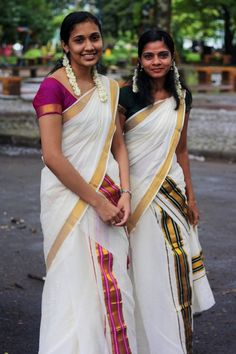 One of popular and traditional dress for the women folks of Kerala is the Sari. With the passage of time the sari has also become a major part of the Kerala costume. One may say that mundum neriyathum in recent times have been replaced by sari to a large extent. This costume comes in various designs and colors. One can find intricate design work on the saris in Kerala. The colors are mainly white and off-white but other shades are also equally popular.