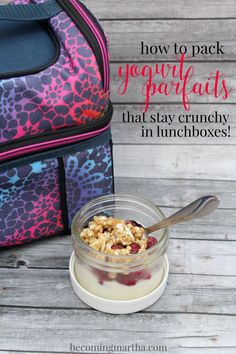 Use these simple tips to keep yogurt parfaits fresh and crisp while your kids attend camp, school, or an afternoon playdate at the beach!