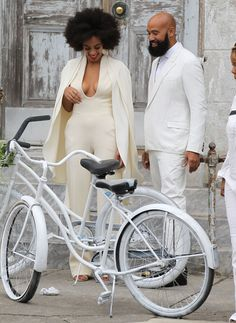 But this show has one obvious star.   Solange Wore The World's Most Amazing Jumpsuit To Her Wedding