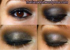 Sweet Siena - Grey Silver Smokey Eyes Makeup