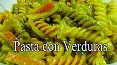 PASTA CON VERDURAS. ¡Que plato más rico sano y fácil de hacer! ¿Te vas a perder esta receta? Pasta Salad, Ethnic Recipes, Food, Bathroom, Salads, Pasta With Vegetables, Pasta Recipes, Kitchen Gadgets, Homemade Recipe