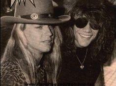 Brett Michaels & Jon Bon Jovi Two beautiful men... In one pin <3