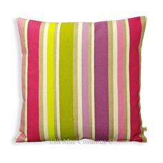 Designers Guild Monticello Raspberry Striped 20 by ElliMaeCushions