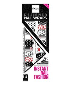 Look at this #zulilyfind! Sealed With A Kiss Nail Decal Set #zulilyfinds