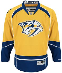 Men's PK Subban Nashville Predators Jersey - Gold This is a fully stitched NHL Nashville predators premier jersey. This jersey comes with the 2017 Stanley cup finals patch on it! Reebok Other Custom Hockey Jerseys, Nhl Hockey Jerseys, Pro Hockey, Hockey Players, Face Off, Chicago Blackhawks, Seth Jones, Nashville, Reebok
