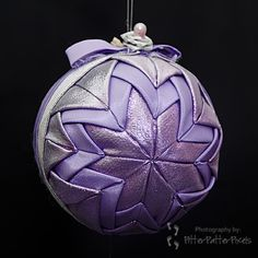 Purple shining Christmas ball ornament