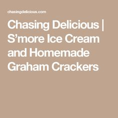 Chasing Delicious   S'more Ice Cream and Homemade Graham Crackers