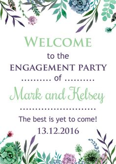 This rustic Engagement party poster Colorful Painting flowers is perfect for you engagement party decor - DIY Rustic Editable Engagement Print Sign Template A3. INSTANT DOWNLOAD and print your own Decorations!  #3 Rustic Engagement party poster 11 x 16 ( standard A3 ) - DIY for home printing.  -- WHAT DIGITAL PRODUCT YOU GET: - 1 editable PDF file - High Resolution 300dpi Digital Sheet Size: 11 x 16 for easy printing. -- Three quick and easy steps: DOWNLOAD + EDIT+ PRINT = ENJOY! --  1 -...
