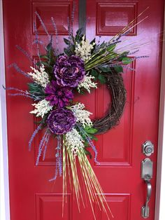 Purple grapevine wreath