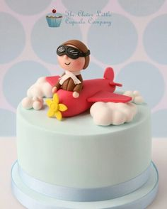 The Clever Little Cupcake Company Fancy Cakes, Cute Cakes, Beautiful Cakes, Amazing Cakes, Fondant Cakes, Cupcake Cakes, Planes Cake, Airplane Cakes, Cakes For Boys