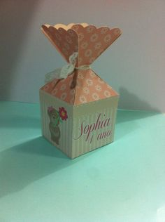 Caixa flor personalizado com ursinho
