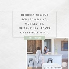 I love this story in Acts because it points to a powerful truth: In order to move toward healing and wholeness in our lives, we need the supernatural power of the Holy Spirit to set us free, and we will often need someone to hold on to. And that's OK