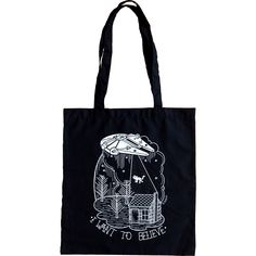 I want to believe Millennium Falcon tote bag / la barbuda