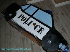 Chief Domestic Officer: Cardboard box Police Car